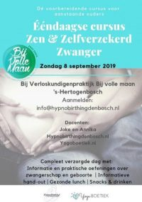 Zen Zelfverzekerd Zwanger ééndaagse cursus